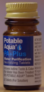 Potable Aqua PA+ bottle