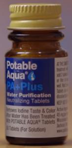 Potable Aqua PA+ bottle
