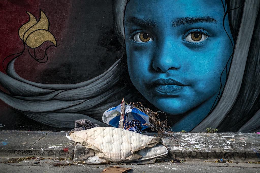 art image of blue girl
