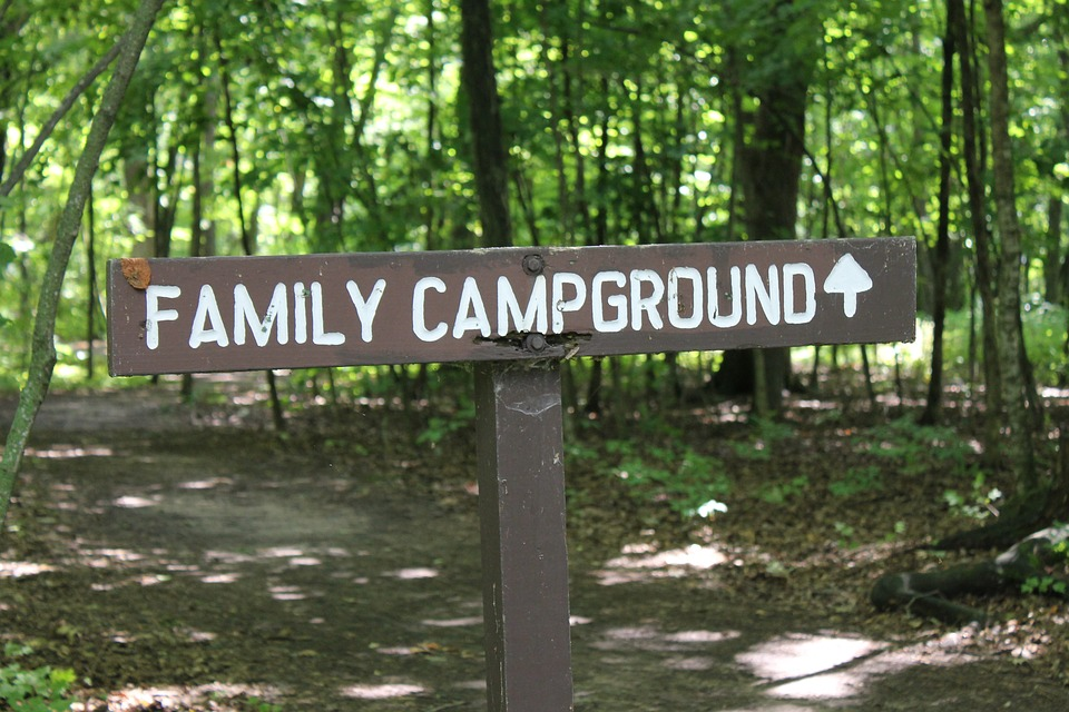 Family campground entry