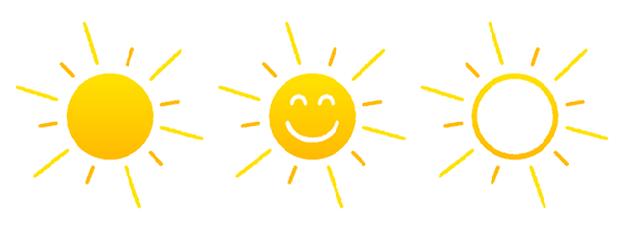 Summer sun light